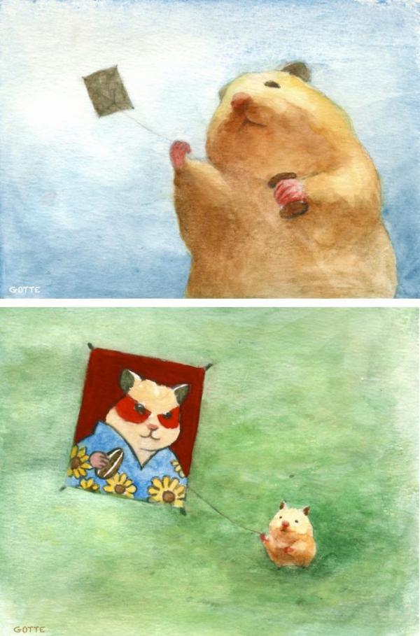 Bộ tranh cuộc sống thường nhật của bé hamster khiến ai cũng á ố vì quá dễ thương
