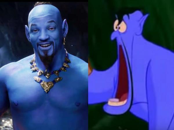 Aladdin 2019: Các fan 'hoảng hốt' trước tạo hình thần đèn 'to và xanh' của Will Smith