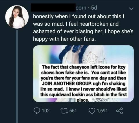 Chuyện hài của năm: Một 'fan ruột' nổi điên với Lee Chaeyeon vì nghĩ cô bỏ IZ*ONE sang ITZY