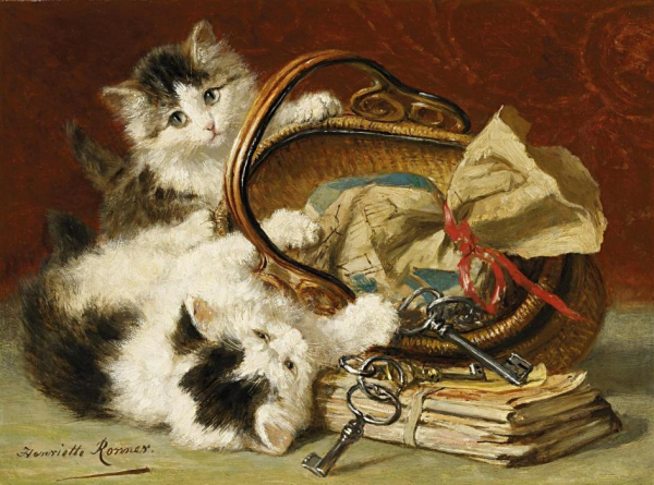 Loạt tranh ấn tượng của nữ danh họa Henriette Ronner Knip - người cả đời chỉ vẽ mỗi mèo