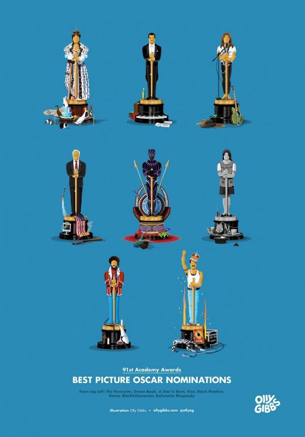 Không phải tranh giành nữa, mỗi bộ phim đều có tượng Oscar cho riêng mình rồi