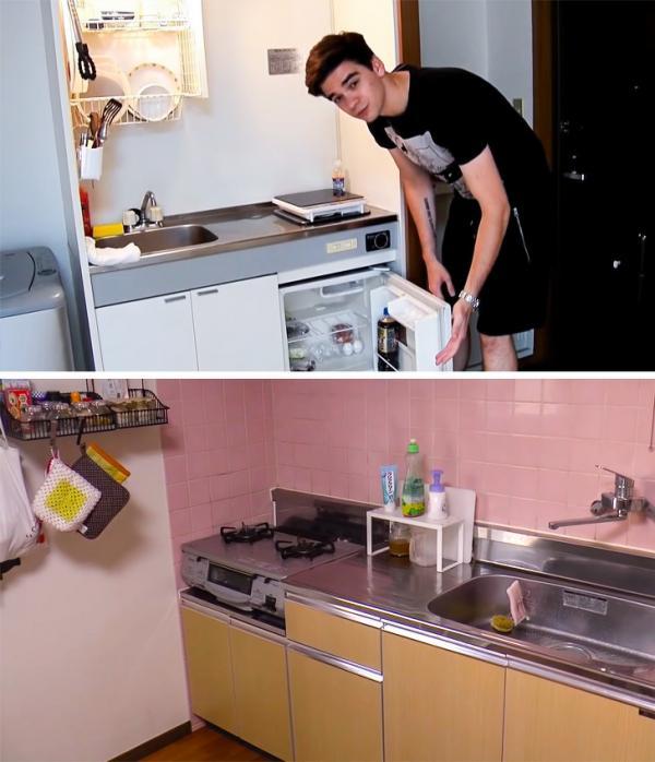 Theo chân hai chàng trai người Nga và Ukraine trải nghiệm căn hộ bình dân Nhật Bản