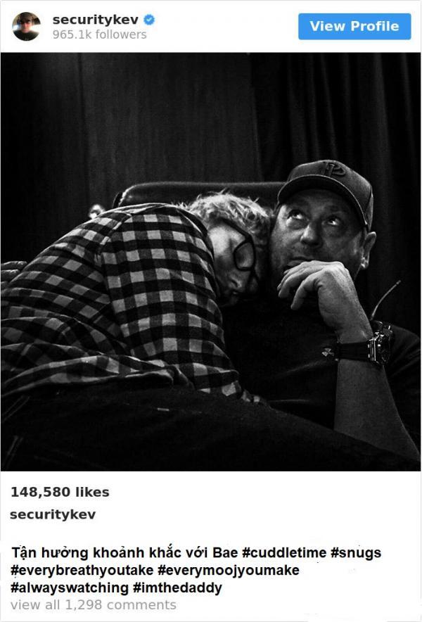 Anh vệ sĩ lầy lội nổi tiếng ngang ngửa Ed Sheeran nhờ hay đưa sếp ra làm trò đùa trên Instagram
