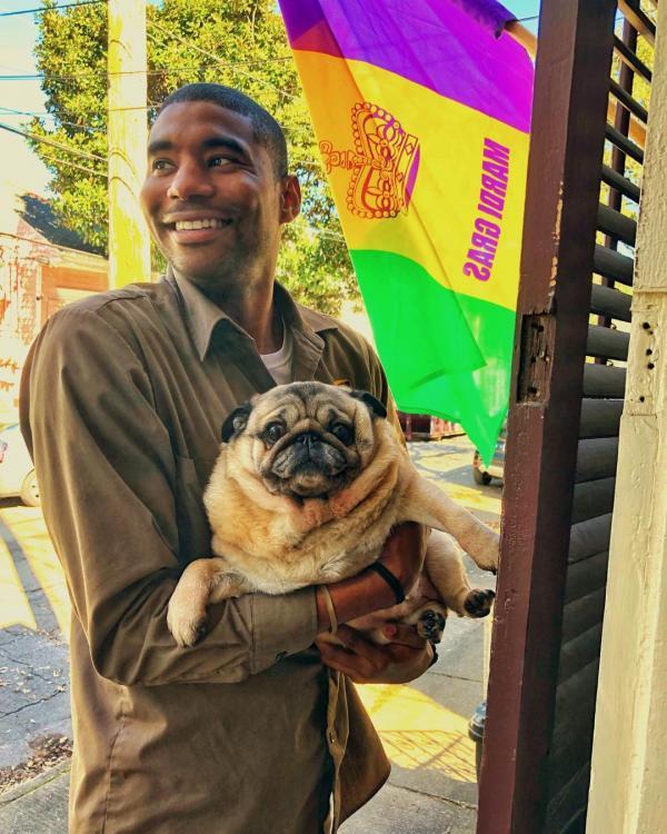 Thấy lòng vui lạ khi xem ảnh anh tài xế thân thiện cùng các bé chó trên đường đi làm