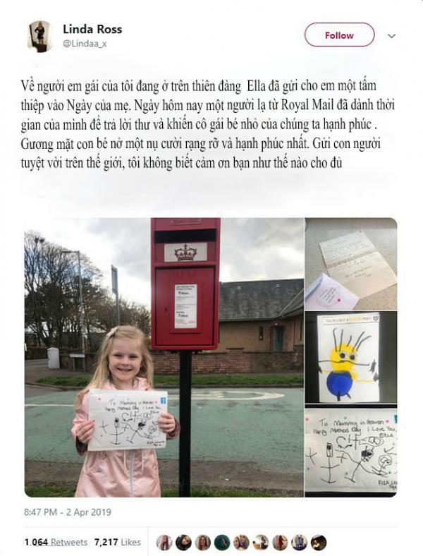 'Be With You' phiên bản đời thực: Bé gái 4 tuổi nhận được thư hồi âm của người mẹ quá cố