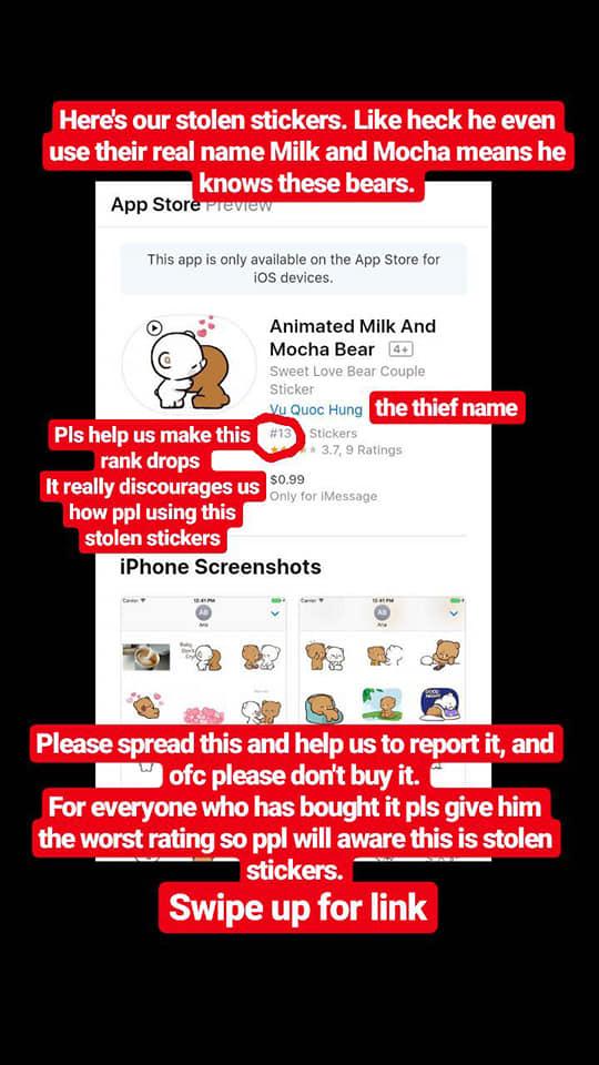 Họa sĩ nước ngoài tố cáo bị người Việt ăn cắp hình ảnh làm sticker, kiếm tiền bất hợp pháp