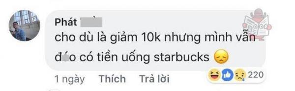 Loạt comment cười muốn 'nội thương' trước thông báo Starbucks sẽ giảm 10 nghìn VND khi khách hàng tự mang ly đến