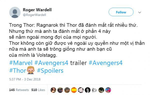 Tài khoản Twitter bí ẩn đã tiết lộ trúng phóc các sự kiện trong 'Avengers: Endgame' từ tận năm ngoái