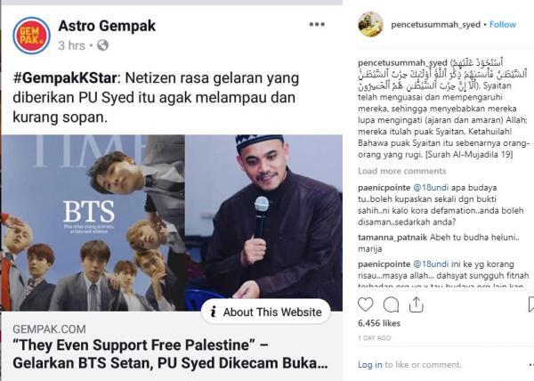 Nhà thuyết giáo người Malaysia đòi đất nước 'cấm cửa' BTS vì cho rằng nhóm là 'hậu duệ của Satan'