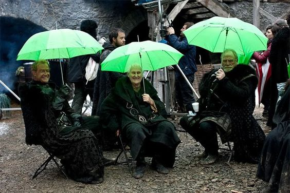 Những hình ảnh hậu trường mất hình tượng của 'Game of Thrones'