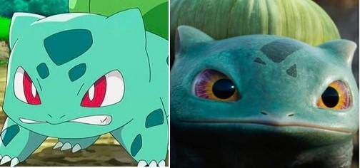 So sánh ngoại hình Pokémon trong phim hoạt hình và live-action 'Thám Tử Pikachu'