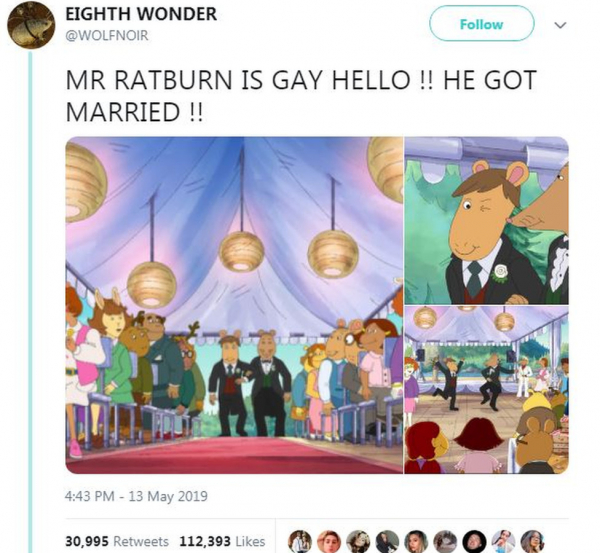 Bộ phim hoạt hình gây bão khi cho phát sóng cảnh đám cưới đồng tính
