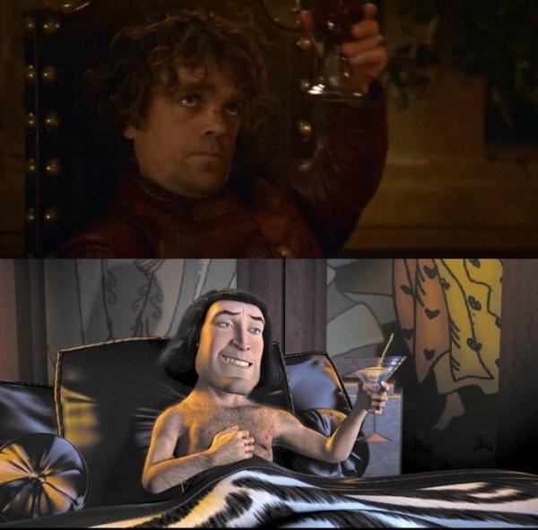 Loạt ảnh so sánh giống nhau đến ngỡ ngàng của các nhân vật trong 'Shrek' và 'Game of Thrones'