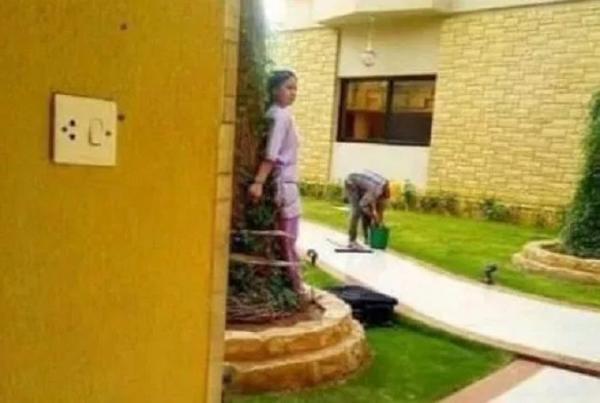 Một gia đình Ả Rập giàu có bị chỉ trích vì trói nữ giúp việc vào gốc cây giữa cái nắng như thiêu đốt