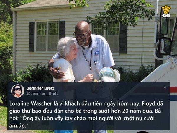 Cách nói lời tạm biệt tuyệt đẹp của cư dân khu phố vào ngày người đưa thư tốt bụng nghỉ hưu