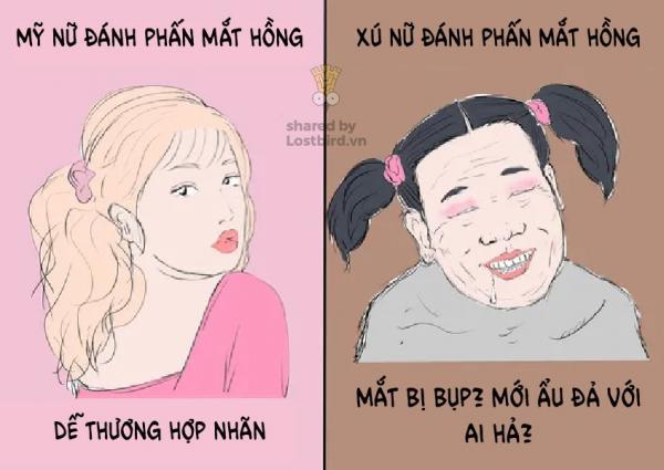 'Sự khác nhau giữa Mỹ nữ và Xú nữ': Bộ tranh hài hước của nữ họa sĩ Nhật đang được chia sẻ rần rần trên MXH