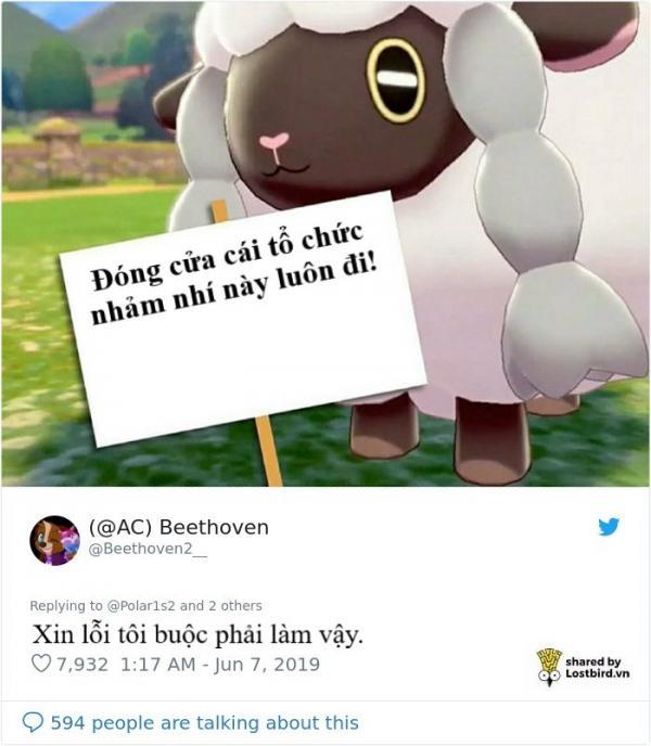 PETA lại bị cười nhạo khi dùng pokémon Wooloo để tuyên truyền ngừng sử dụng lông cừu