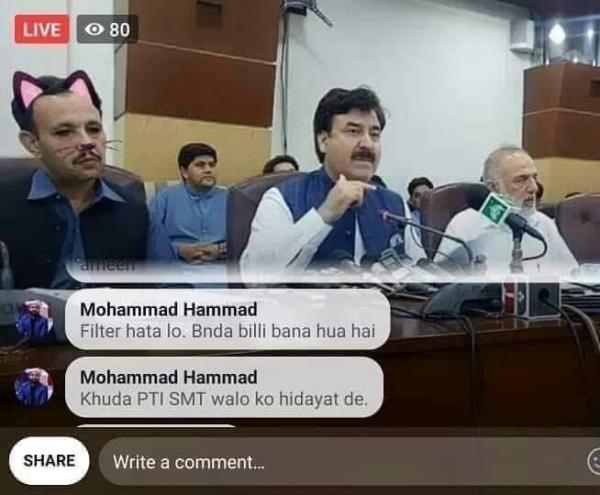Chính phủ Pakistan vô tình bật hiệu ứng 'mèo cute' khi đang livestream trên Facebook khiến cả thế giới 'cười ngất'