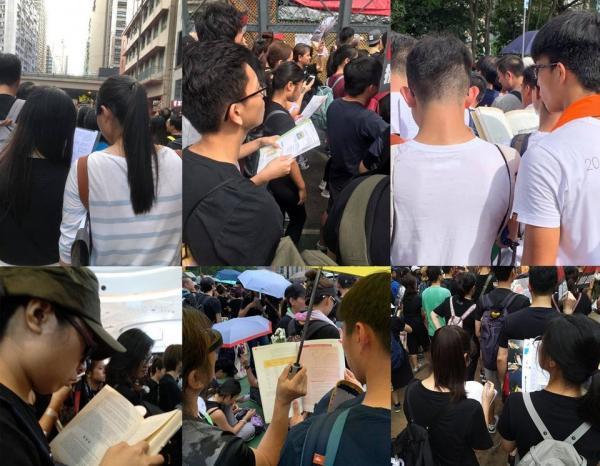 Người trẻ Hồng Kông biểu tình nhưng không quên nhiệm vụ chính: học bài