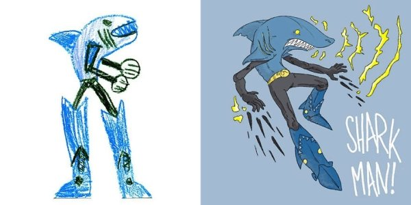 Nghệ sĩ khắp thế giới họa ra những con quái vật dựa trên nét vẽ nguệch ngoạc của trẻ con
