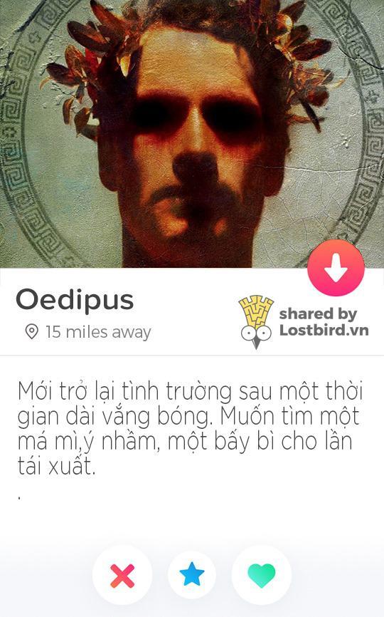 Nếu các vị thần Hy Lạp cũng chơi Tinder thì profile của họ sẽ như thế nào nhỉ?