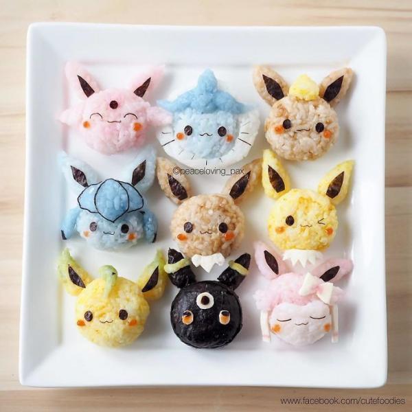 Ai nỡ ăn những nắm cơm Pokémon siêu yêu này chứ?