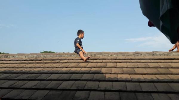Cậu bé trèo lên mái nhà và ngồi trên đó suốt hai giờ vì sợ... bị cắt bao quy đầu