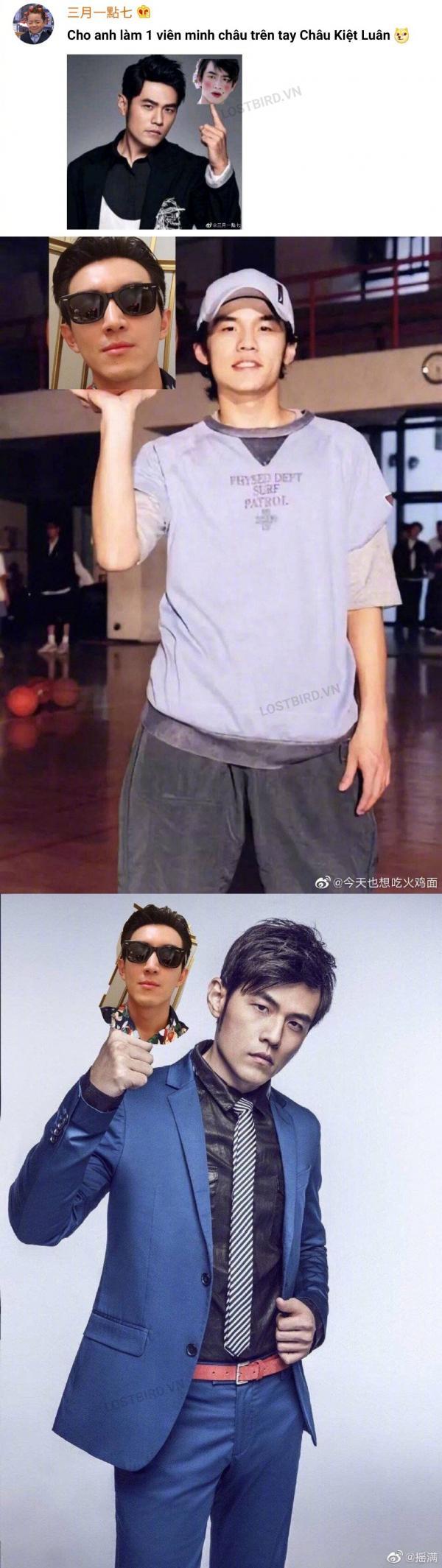 Lâm Canh Tân nhờ dân mạng ghép ảnh mình với Châu Kiệt Luân và nhận về bộ ảnh cười 'muốn nội thương'