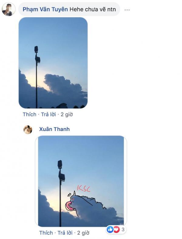 Chỉ một đám mây hình thù kỳ lạ, cả cộng đồng mạng thi nhau thả trí tưởng tượng bay xa