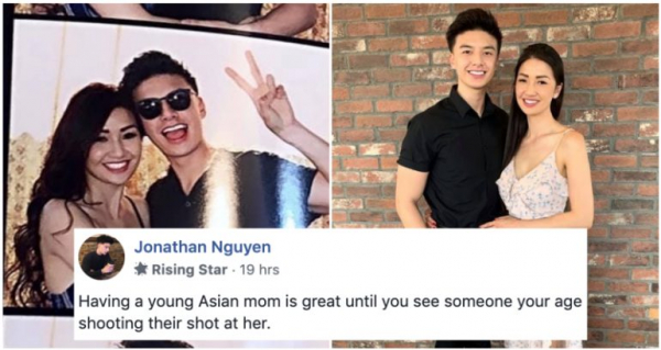 Mẹ quá trẻ đẹp khiến chàng hotboy gốc Việt bị nhầm là bạn trai của mẹ