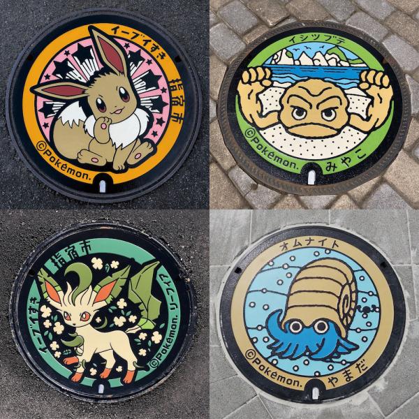 Đường phố Nhật Bản ngập tràn màu sắc với những chiếc nắp cống Pokémon đáng yêu