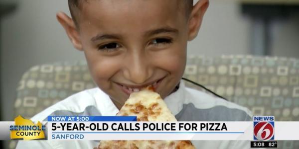 Bé 5 tuổi 'dám' gọi 911 order bánh pizza, cảnh sát cũng 'dám' mang pizza tới thật luôn