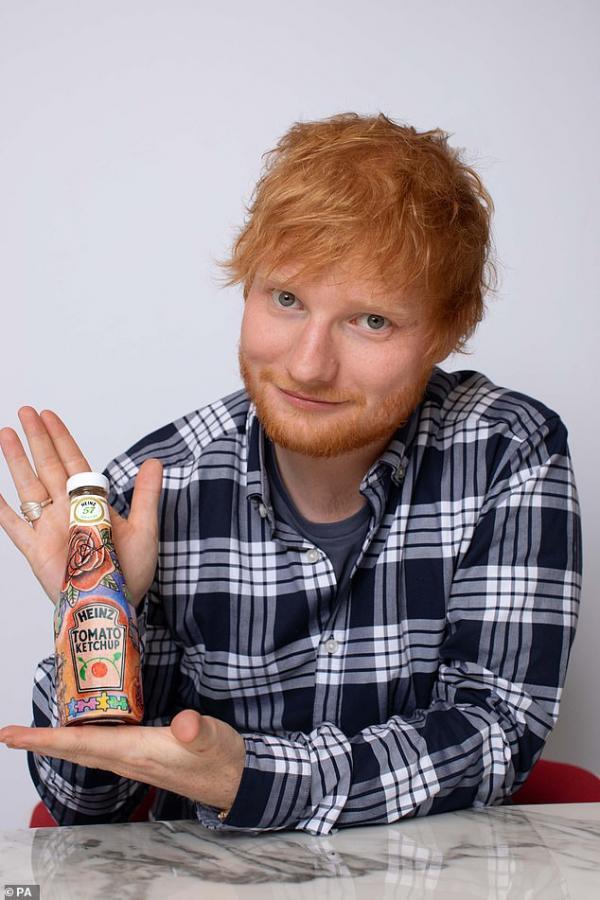 Chai tương cà đắt nhất thế giới do chính Ed Sheeran thiết kế, được bán đấu giá lên đến 42 triệu VNĐ