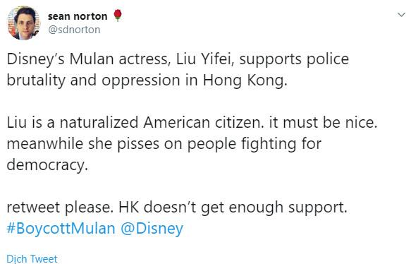 Người biểu tình ở Hong Kong kêu gọi tẩy chay 'Hoa Mộc Lan' vì động thái của Lưu Diệc Phi
