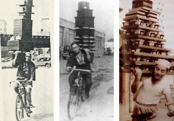 Khả năng thần sầu của shipper Nhật Bản xưa: Đi xe đạp cầm chục bát mì sương sương mà vẫn tỉnh bơ