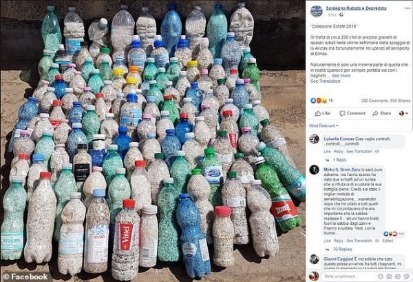 Khách du lịch đối mặt 6 năm tù ở Ý vì cố tình ăn cắp 40kg cát từ bãi biển