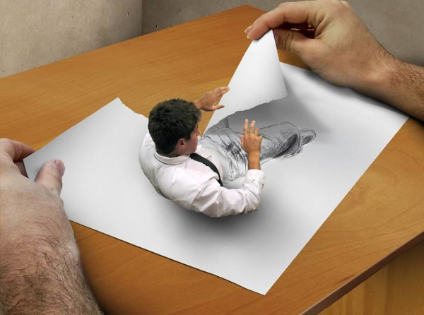 17 tác phẩm ba chiều trông như muốn 'nhảy' ra khỏi mặt giấy