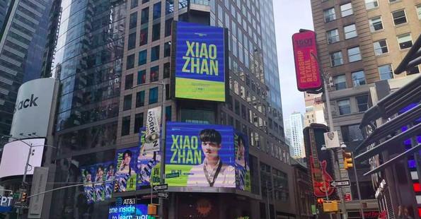 Fans chi tiền để quảng bá hình ảnh Tiêu Chiến - Vương Nhất Bác tại Quảng trường Thời đại Mỹ