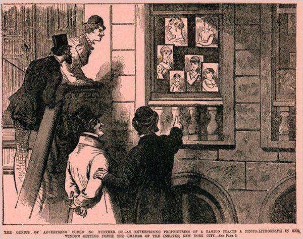 Gái bán hoa hồi xưa cũng có quảng cáo đàng hoàng chẳng kém cạnh ai