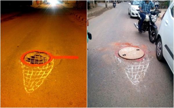 Biến ổ gà, ổ voi trên đường phố thành tác phẩm nghệ thuật 3D
