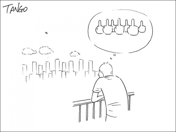Nhìn đời khác đi với loạt tranh hài hước chỉ bằng vài nét của chàng họa sĩ Thượng Hải