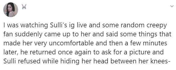 Sulli trốn tránh, ôm mặt hoảng sợ khi bị fan nam quấy rối ngay tại chốn đông người