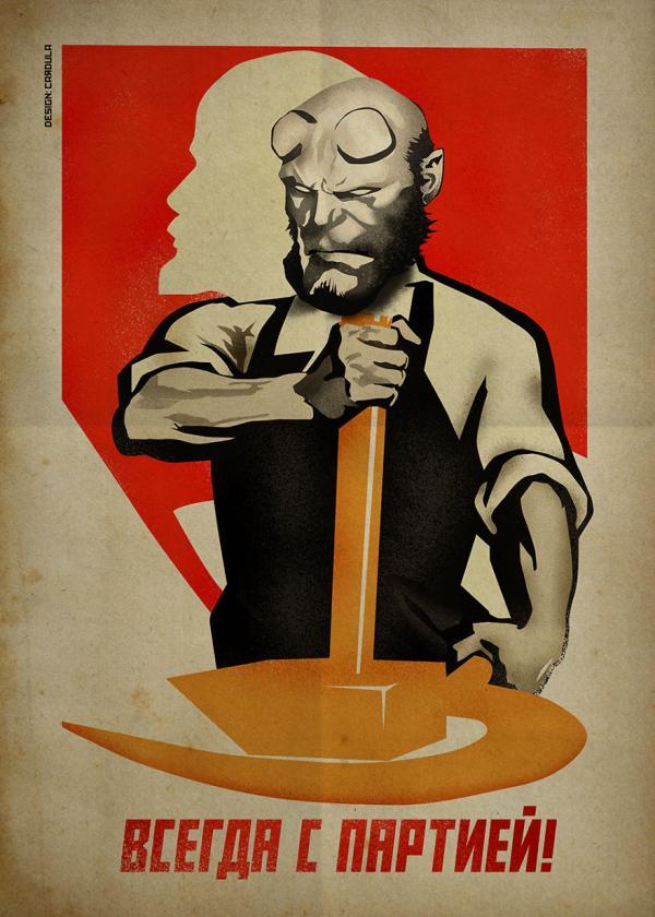 Các siêu anh hùng sẽ trông như thế nào nếu được vẽ theo phong cách Liên Xô?