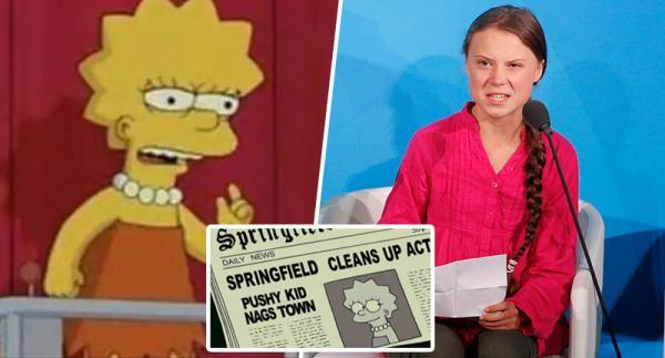 Bất ngờ chưa: 'The Simpsons' lại tiên tri đúng về tương lai, lần này chuyện của Greta Thunberg