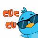 funny blue bird cartoon vector set 587105