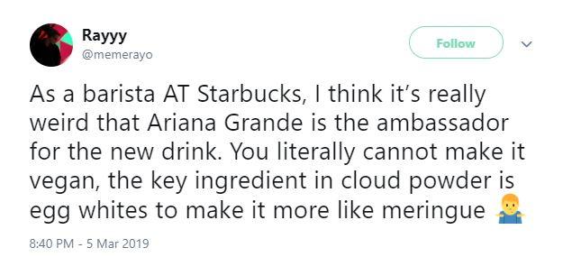 Ariana Grande chọc giận fan khi tự nhận '100% ăn chay' nhưng vẫn dùng đồ uống bơ sữa của Starbucks